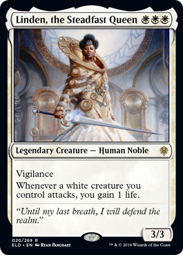 Linden, the Steadfast Queen - Magic: the Gathering