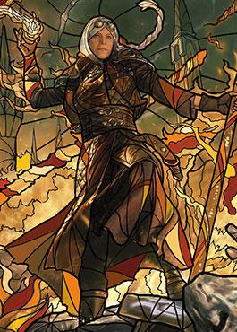 敬慕される炎魔道士、ヤヤ(Jaya, Venerated Firemage)
