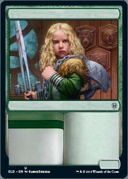 MTG Choose Rare or Mythic// Showcase FOIL Borderless Throne Of Eldraine ELD