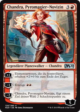 Chandra, Pyromagier-Novizin