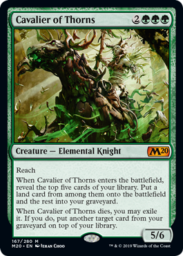 Cavalier of Thorns - Magic: the Gathering
