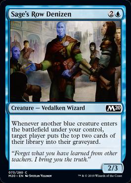 Sage's Row Denizen - Magic: the Gathering