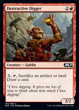 Destructive Digger - Magic: the Gathering