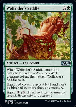 Wolfrider's Saddle - Magic: the Gathering