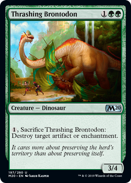 Thrashing Brontodon - Magic: the Gathering
