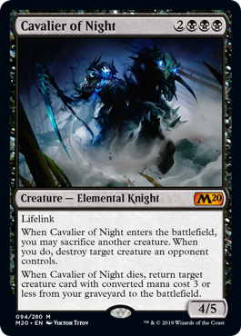Cavalier of Night - Magic: the Gathering