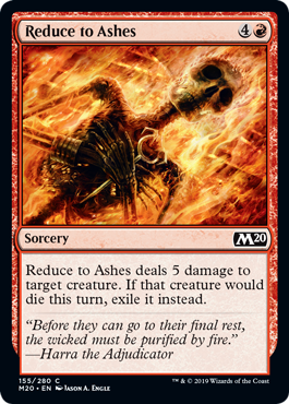 Reduce to Ashes - Magic: the Gathering