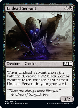 Undead Servant - Magic: the Gathering