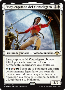 Sisay, capitana del Vientoligero
