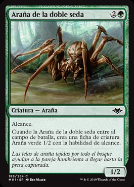 Araña de la doble seda