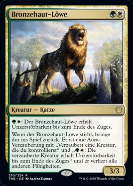 Bronzehaut-Löwe