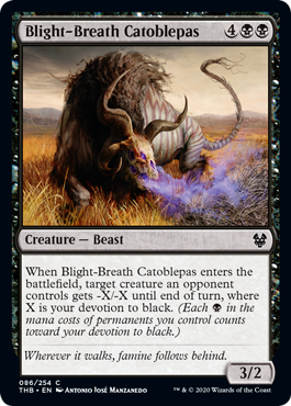 Blight-Breath Catoblepas - Magic: the Gathering