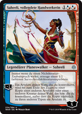 Saheeli, vollendete Handwerkerin