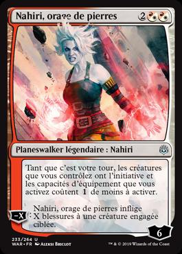 Nahiri, orage de pierres