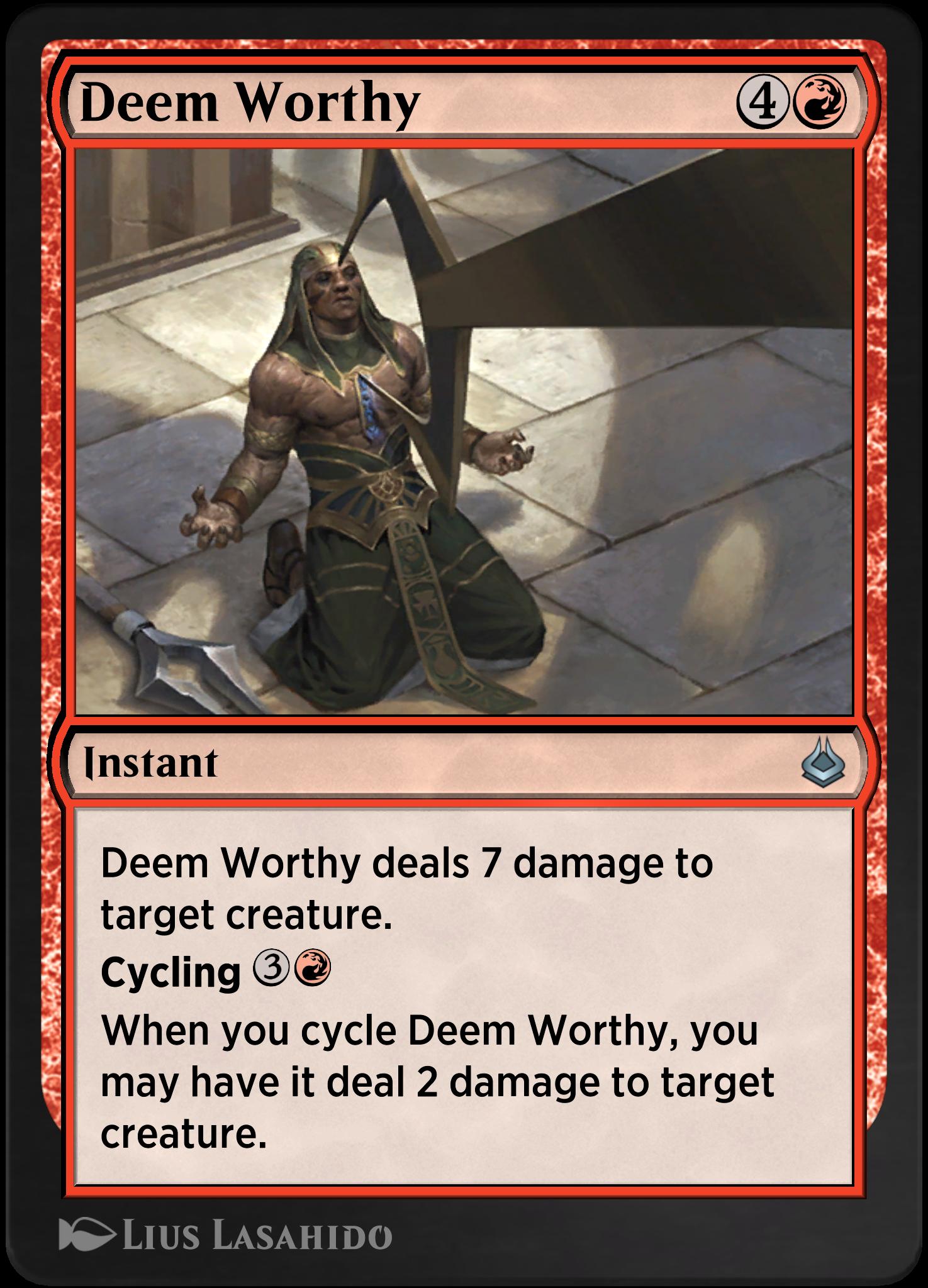 Deem Worthy