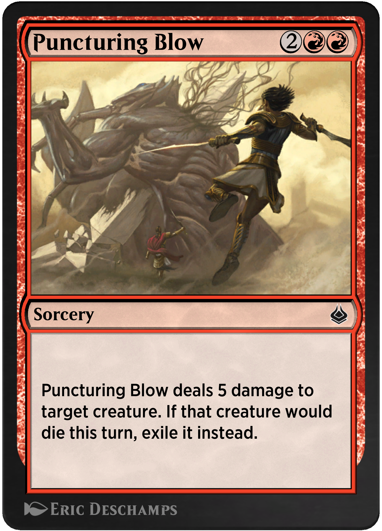 Puncturing Blow