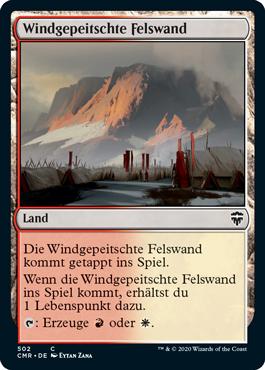 Windgepeitschte Felswand