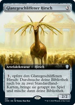Glanzgeschliffener Hirsch