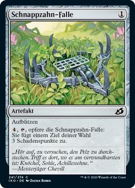 Schnappzahn-Falle
