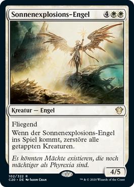 Sonnenexplosions-Engel