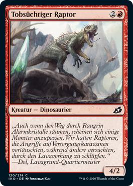 Tobsüchtiger Raptor