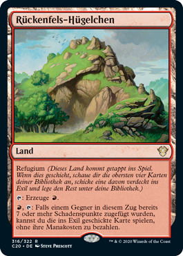 Rückenfels-Hügelchen