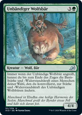 Unbändiger Wolfsbär