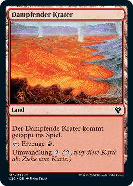 Dampfender Krater