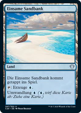 Einsame Sandbank