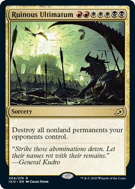 Ruinous Ultimatum
