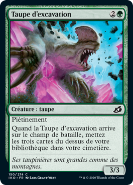 Taupe d'excavation