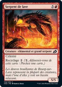 Serpent de lave