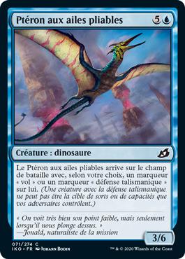 Ptéron aux ailes pliables