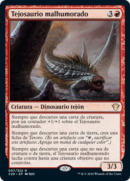 Tejosaurio malhumorado