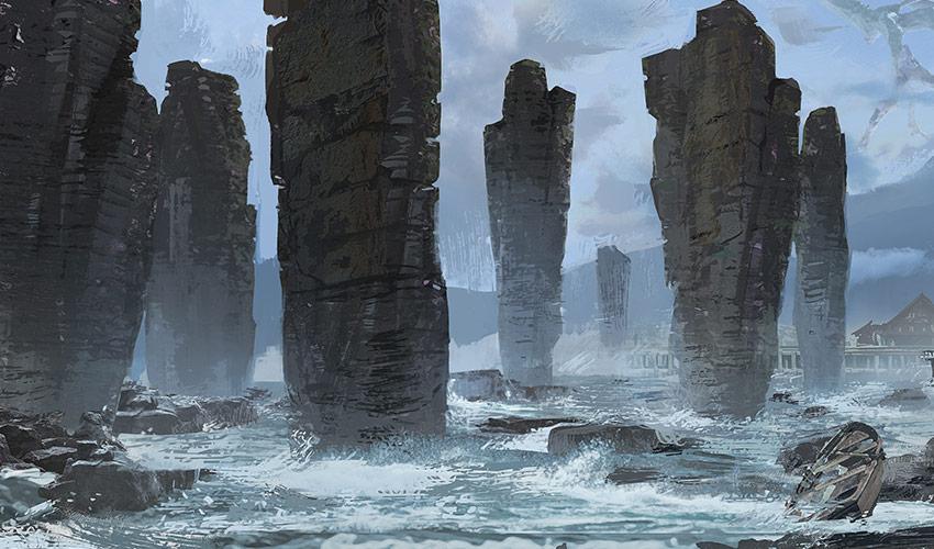 pillar island formations