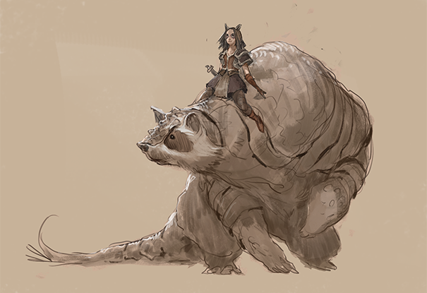 Amadillo-bear and bonder concept, Artist Unknown