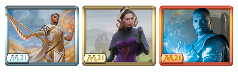 Basri, Liliana, and Teferi avatars