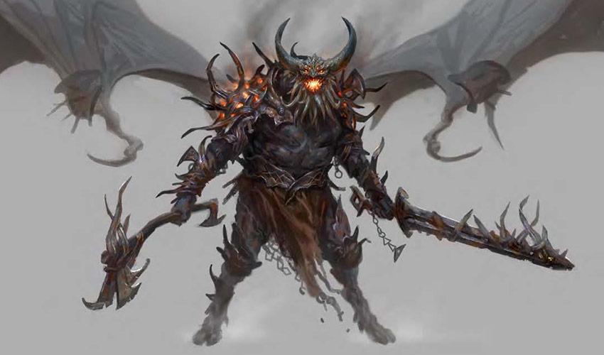 Konzeptzeichnung: Dämon