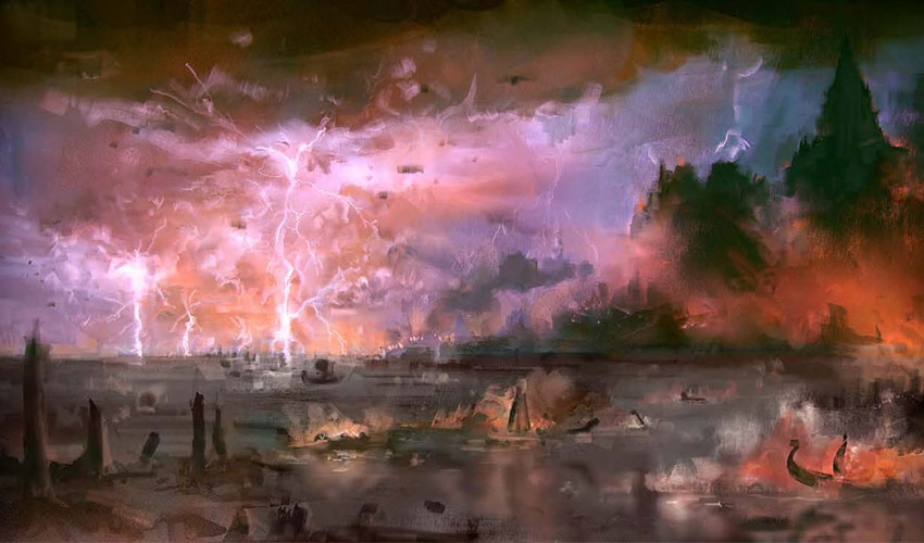 Sturmküste mit Vignette