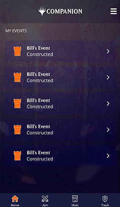Event Lobby with Active Events