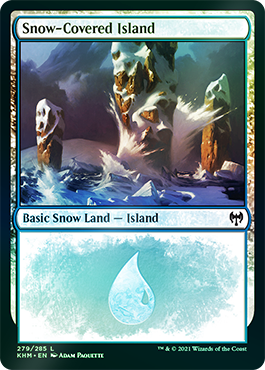 Foil Snow Basic Land