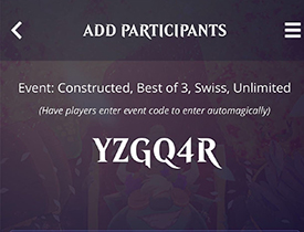 Event Code from EventLink