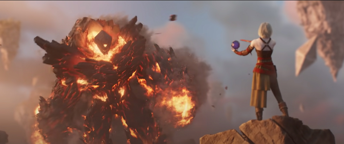 Image from Trailer – Nahiri facing the elemental