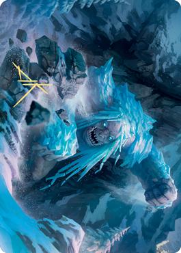 Icehide Troll Art Card