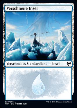 Verschneite Insel