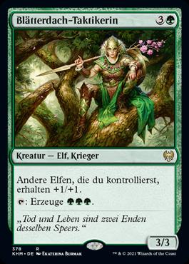Blätterdach-Taktikerin