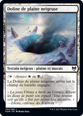 Doline de plaine neigeuse
