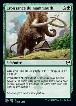 Croissance du mammouth