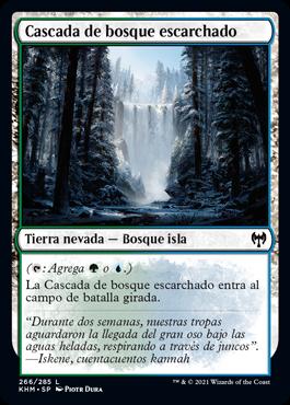Cascada de bosque escarchado