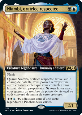 Niambi, oratrice respectée